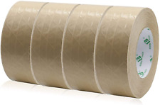 4rolls Self Adhesive Reinforced Kraft Packing Paper Tape 2inch 55yds Total