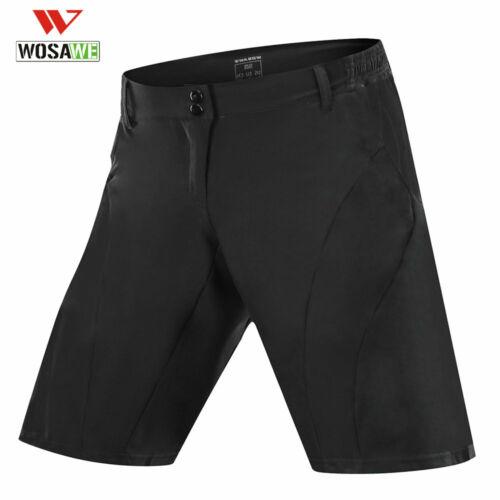 Mens Baggy Cycling Shorts Casual Bike Bicycle Short Pants Black Riding MTB