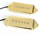 Artec Alnico 5 P90 Dog Ear Arched Pickup Set Gold