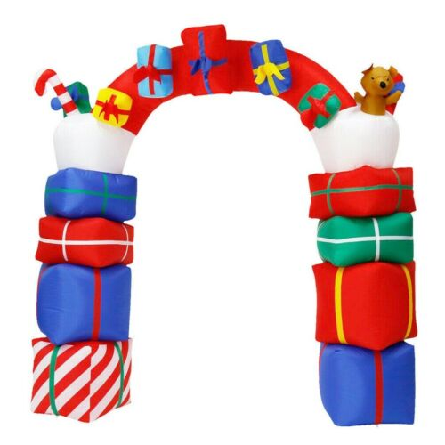 Gifts Stacked 8ft Christmas Inflatable Archway Arch Yard Front Door Decorations