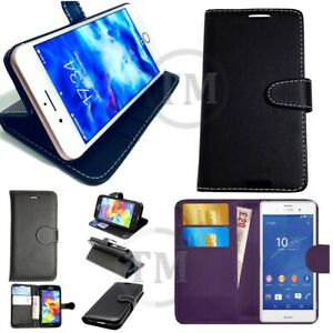 Luxury-Leather-Book-Case-Wallet-Flip-Folio-Cover-Pouch-4-iPhone-HTC-Samsung-Sony