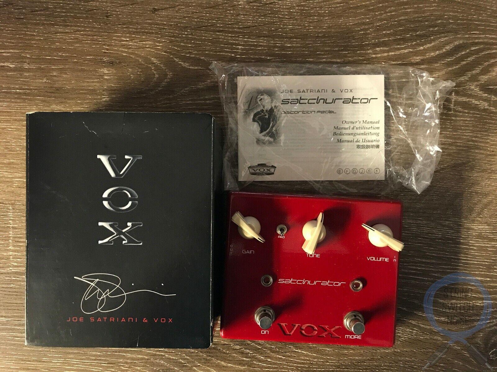 Vox JS-DS, Satchurator, Distortion, Boost, Original Boxing, Guitar Effect Pedal