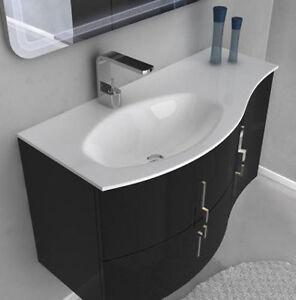 Mobile bagno cm 104 in 4 colori per arredo moderno sospeso - Mobile bagno moderno sospeso ...