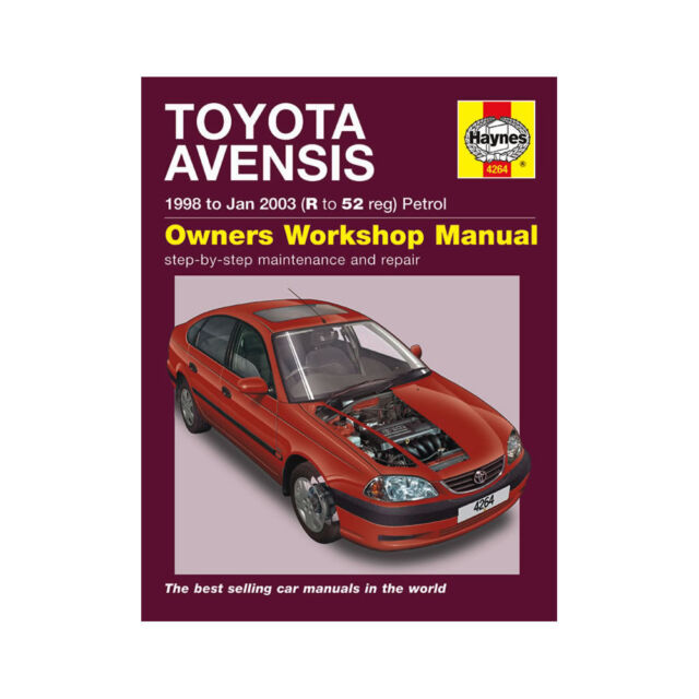 haynes toyota avensis manual 1998 jan 2003 r 52 petrol number 4264 rh ebay co uk toyota avensis 2002 owners manual toyota avensis t22 owner's manual