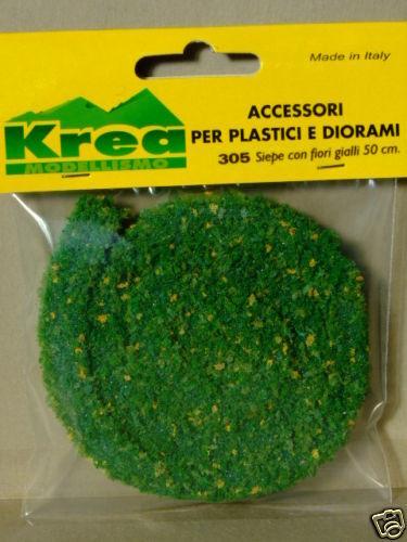 Krea art.305 50 Siepe verde con fiori gialli per plastico cm