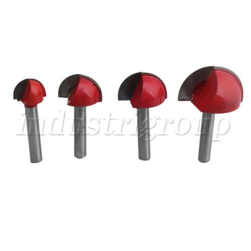 4 ensembles de fraise outil Routeur Bits Fraise /& Roulement corner round over Bit