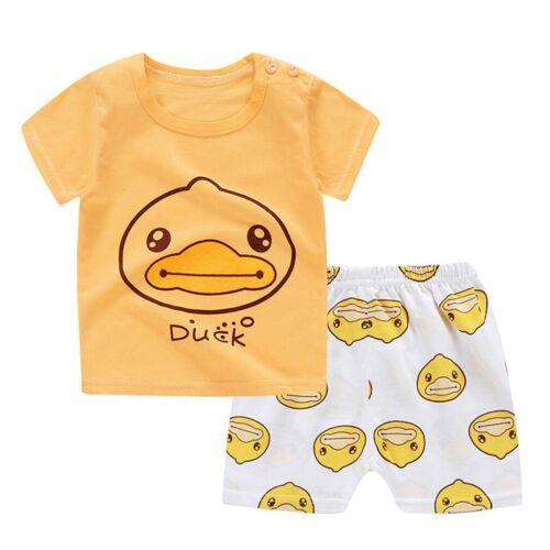Boys Pyjamas Set Dinosaur Print Kids Pjs Cotton Sleepwear Tops+Pants Outfit US