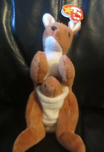 20a2a7da298 Image is loading Ty-Beanie-Baby-Pouch-the-Kangaroo-4th-Generation-