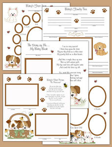 Baby Boy Puppy Premade Scrapbook Pages Layout 12x12 Album Book Gift