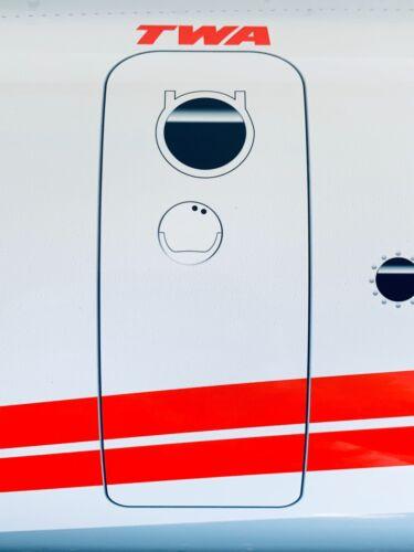 WOW!Curved TWA TRANS WORLD ATLANTIC LOCKHEED CONSTELLATION PLANE SIGN AIRLINE