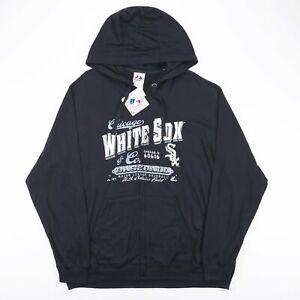 Vintage Majestic NFL Chicago White Sox Noir Sport Col Rond Sweat à capuche homme XL