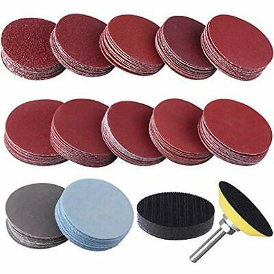 200pcs 3 80,100,180,240,600,800,1000,1200,2000,3000grit Hook/&Loop Sanding Discs US Warehouse