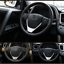 For Toyota RAV4 2016-2018 Steering Wheel Cover Chrome Car Styling Accessories