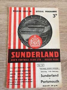 Sunderland-v-Portsmouth-Football-Programme-1955-56