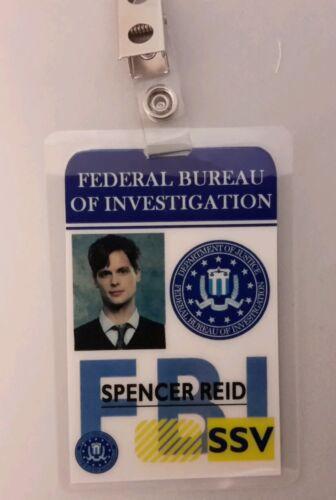 Criminal Minds Identification Badge Spencer Reid Accessoire Costume Cosplay