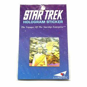 Star-Trek-Rare-Original-Series-Klingon-Hologram-3D-Sticker-Made-in-England-1991