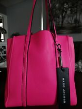 MARC JACOBS Textured Leather Tag Tote