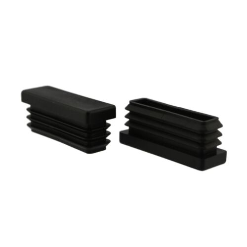 4 x Fussstopfen 45 x 15mm schwarz Rohrstopfen Fusskappen Gartenstuhl Tisch