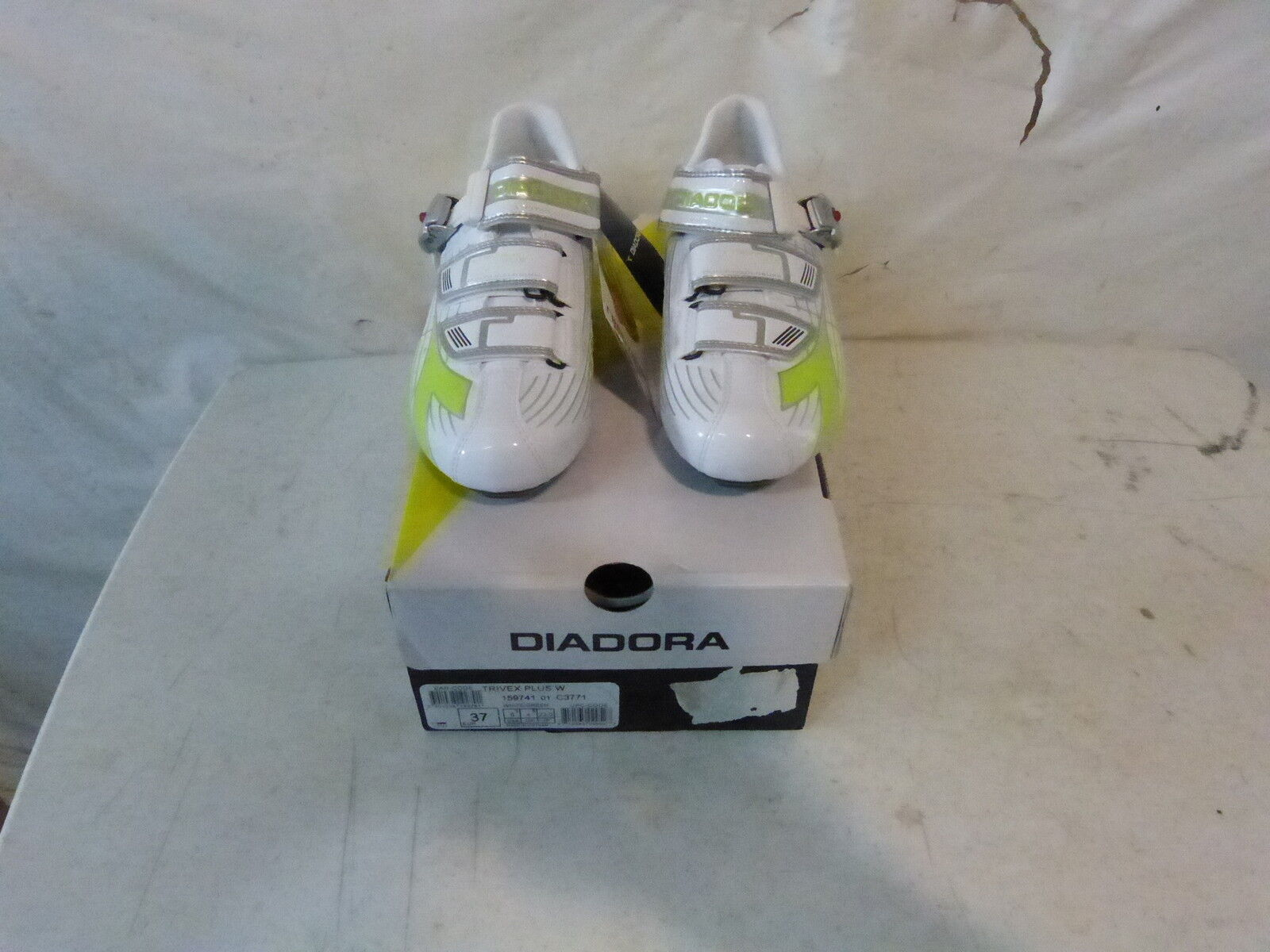 DIADORA  WOMEN'S TRIVEX PLUS ROAD BIKE SHOES US 6.5 White Green Retail  140  2018 latest