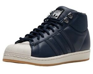 214c8f5191bd Details about Adidas B39507 Men s Pro Model BT High Navy Blue White Shell  Toe Shoes Sz 9.5
