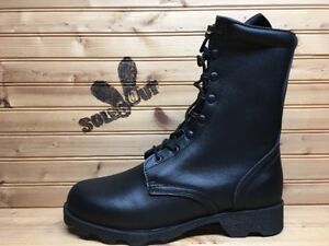 New-Rothco-Leather-Speedlace-Military-Combat-Boots-sz-7-Black-Leather-5094-SC