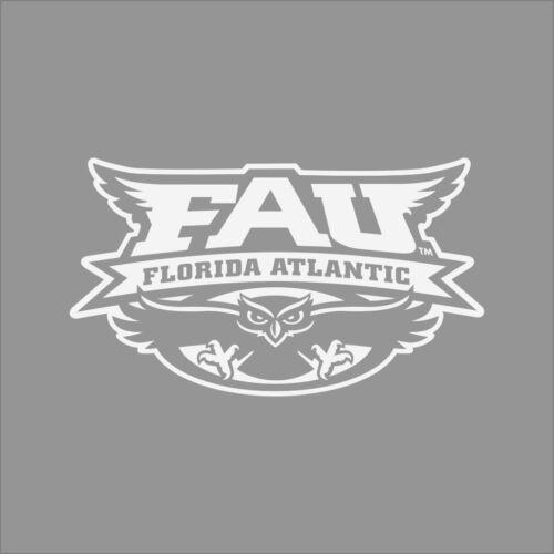 Florida Atlantic Owls #3 College Logo 1C Vinyl Decal Sticker Car Window Wall
