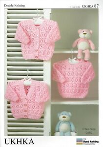 Vat Free Hand Knitting Pattern Dk Baby Toddler Cardigan Sweater