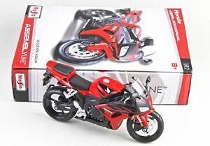 Maisto-1-12-HONDA-CBR1000RR-assemblaggio-fai-da-te-per-Moto-Bici-Modello-Giocattolo-Rosso-Nuovo