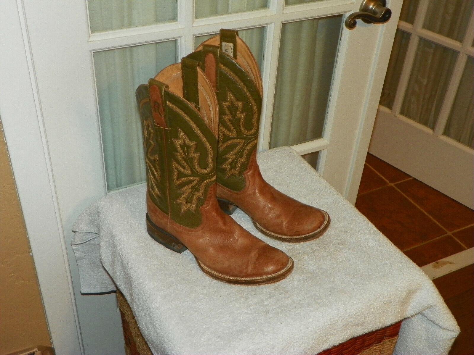 Varilla Patrick botamakers Punta rojoonda botas de vaquero occidental para mujer B
