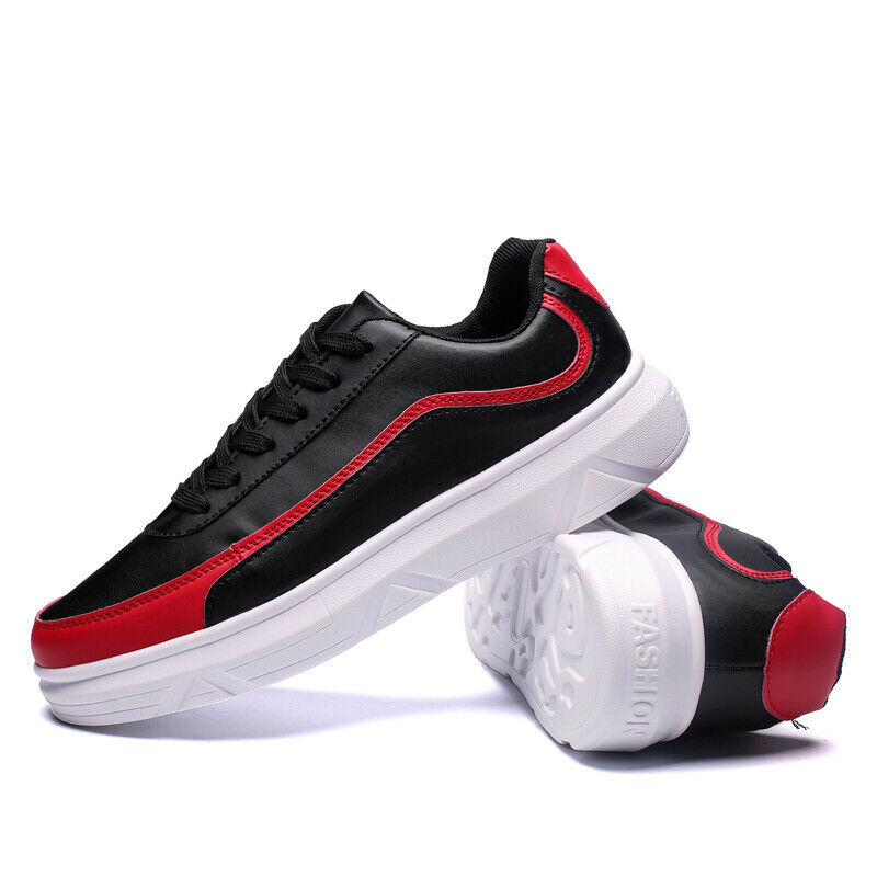 Mens athletic casual shoes lace up round toe ankle boots comfortable sneakers