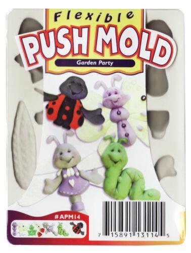 Sculpey push mold-Garden Party