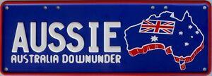 AUSSIE-DOWNUNDER-Number-Plate-Sign-Nostalgic-Novelty-Metal-Tin-Sign