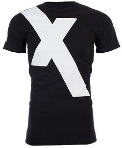 Armani-Exchange-034-X-034-LOGO-Mens-Designer-T-SHIRT-Premium-BLACK-Slim-Fit-45-NWT