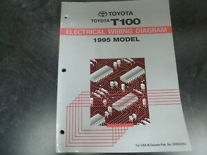 1995 Toyota T100 Truck Electrical Wiring Diagrams Manual Dx Sr5 4wd Xtracab Ebay