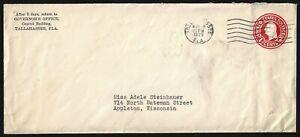 US 1929 Florida Gobernador Doyle E Carlton Autógrafo & Estado Sello En Carta &