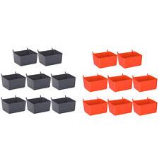 8 Pieces Pegboard Bins Kit Pegboard Parts Storage Pegboard Accessories Workbench