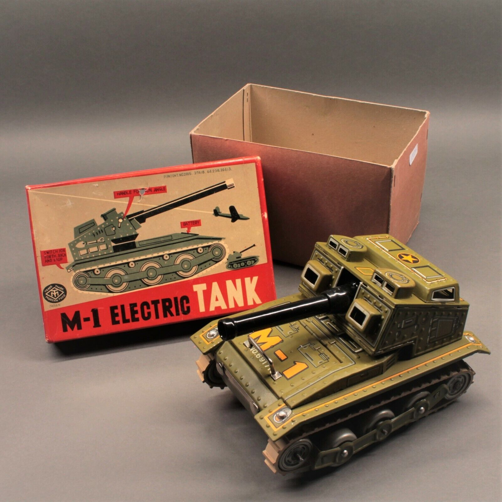 Modern toys-tank m1 electric-old toy-tank