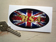 BSA UK GRAFFITI STYLE OVAL 100mm Retro classic motorcycle or helmet STICKER