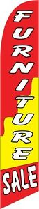 Furniture Sale (red and yellow) 12ft Feather Banner Swooper Flag - FLAG ONLY