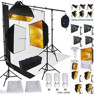 Studio-Lighting-Photography-Video-Softbox-Umbrella-Light-Kit-Peno