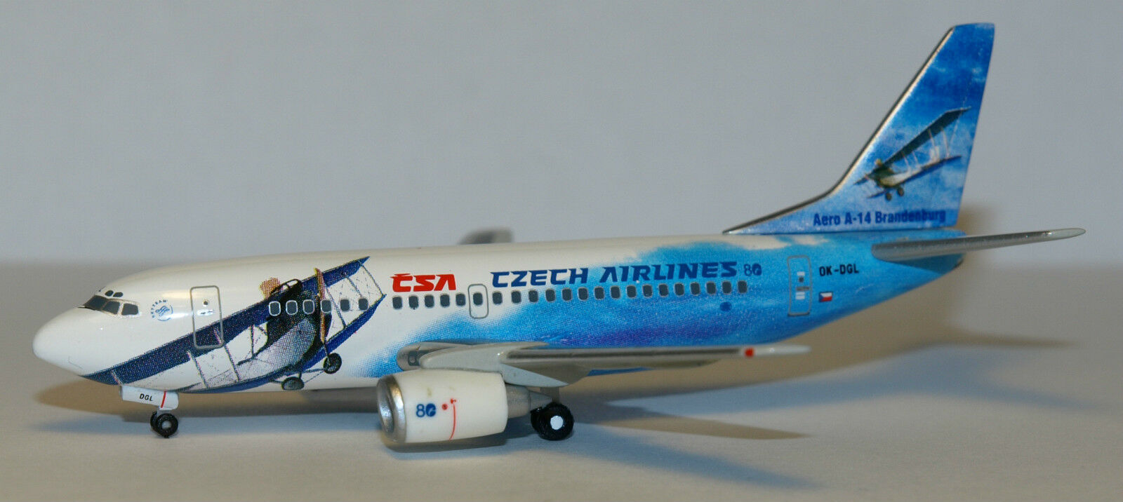 Herpa Wings 1 400 CSA Czech Boeing 737-500 80th 80th 80th anniv id 560979 released 2004 3041f0
