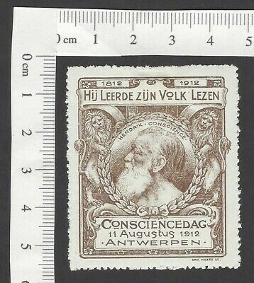 Netherlands & Colonies Stamps Netherlands 1912 Hendrik Consience Day Poster Stamp Mh