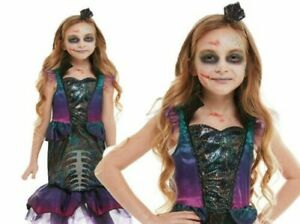 Details about Kids Zombie Mermaid Costume Halloween Horror Sea Girls Fancy  Dress Outfit