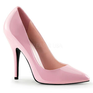 7f3e0b463b Image is loading PLEASER-SEDUCE-420-BABY-PINK-PATENT-CLASSIC-STILETTO-
