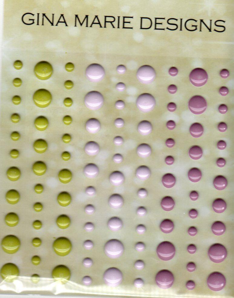 Gina Marie designs Rose Garden Gloss COLORS Enamel Dot Embellishments
