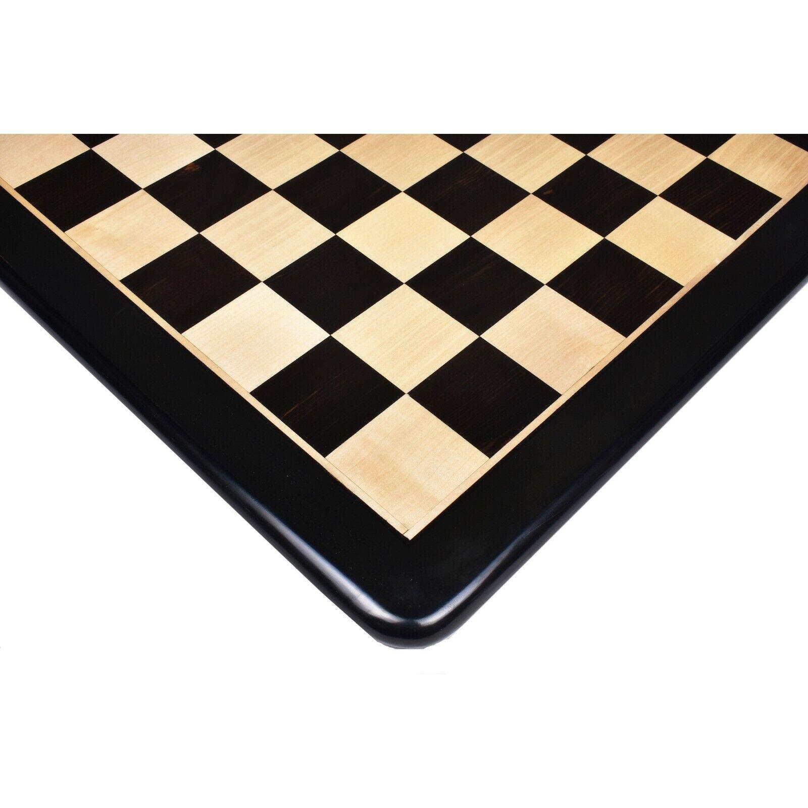 Légèrement imparfaites 21  Solid Ébène & Maple WOOD CHESS BOARD-carré de 55 mm