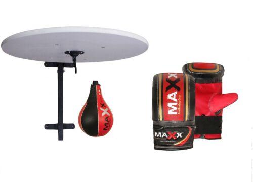 Maxx Adjustable Speedball Platform Frame Set Swivel MMA Speed Ball Boxing Gloves
