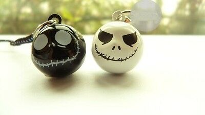 New lot white black 10 pcs nightmare before christmas bell phone charms Straps