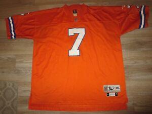 John Elway  7 Denver Broncos 1990 Throwbacks NFL Reebok Jersey 3XL ... 9291d5097