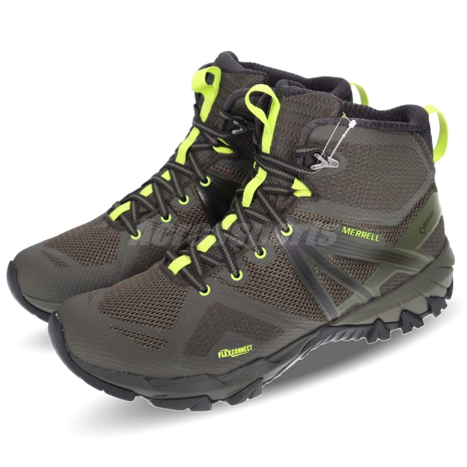 Merrell MQM Flex Mid GTX Gore-Tex Beluga Green Men Outdoors Hiking shoes J48937